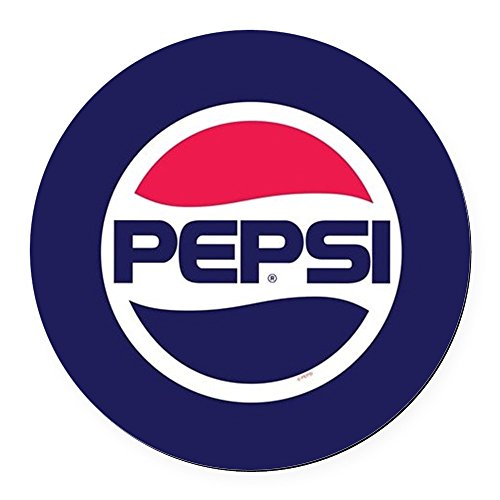 CafePress Pepsi 90S Logo Round Car Magnet, Magnetic Bumper Sticker