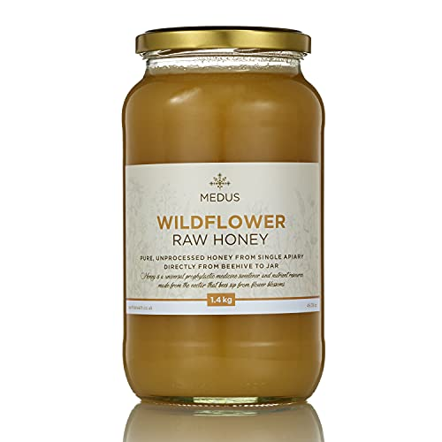 Earthbreath Wildflower Organic Honey - Raw, Pure, Unpasteurised and Unfiltered - Natural Sweetener (1.4kg)