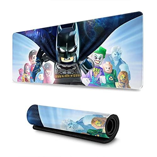 Le-go Batman Yo-daBeyond Gotham Yo-daIn x Juego Alfombrilla de ratón antideslizante con base de goma para teclado de ordenador, 31,5 x 30 cm