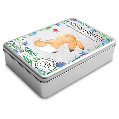 Mr. & Mrs. Panda Baby Geschenk, Babykarten, Meilenstein Karten Baby - Mein erstes Lebensjahr mit Spruch - Farbe Weiß