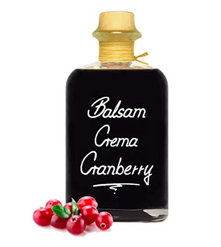 Balsamico Creme Cranberry 0,5L 3% Säure mit original Crema di Aceto Balsamico di Modena IGP.