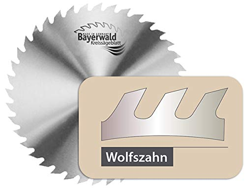 Bayerwald - CV Kreissägeblatt - Ø 315 mm x 1,8 mm x 30 mm | Wolfszahn (56 Zähne) | grobe, schnelle Zuschnitte - Brennholz & Holzwerkstoffe/Längs- & Querschnitt