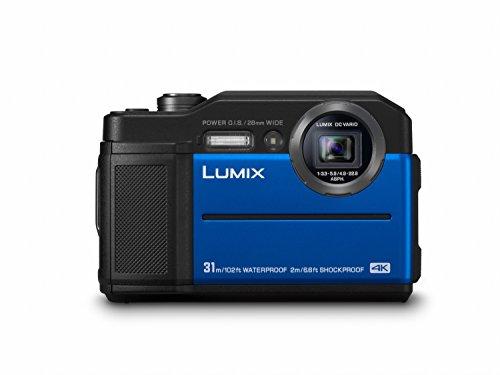 """Panasonic Lumix DC-FT7EG-A - Cámara 4K acuática sumergible 20.4 MP (resistente y compacta, estabilizador, visor LVF, pantalla 3"""", Wi-Fi, IPX8, polvo y congelación), color azul"""