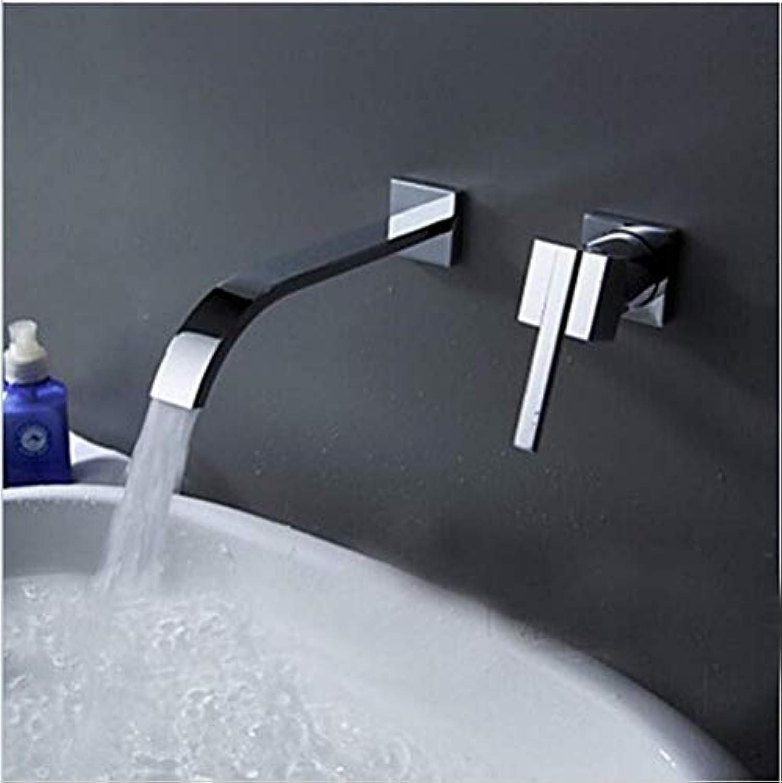 DOMOUDOKüchenarmaturen Waschtischarmaturen Wandmontage Waschbecken Wasserhahn 2-teiliges Set Spülen Wasserhahn Schrank Mischer Bad Warmes und kaltes Wasser Wasserhahn