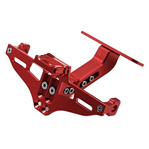 Universal Einstellbar CNC Aluminum Motorrad Kennzeichenhalter Fender Eliminator Halter für MT-01 MT-03 MT-07 MT-09 MT-10 Z650 Z800 Z1000 YBR 125 XJ6 XJR1300 R1 R3 (Rot)