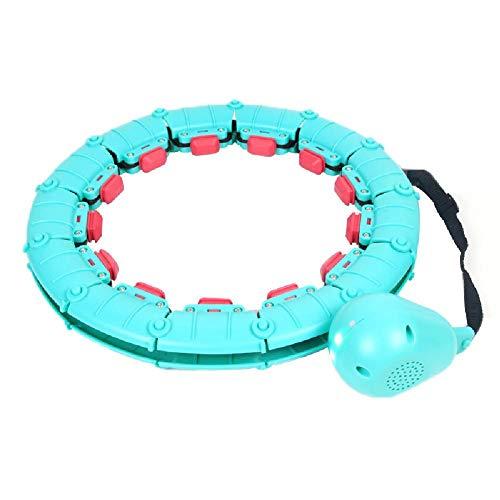 El Masaje Desmontable Smart Hula Hoop No Deja Caer El Anillo De Yoga PéRdida De Peso De Cintura Caliente con FuncióN De MúSica Bluetooth TamañO Ajustable Masaje Envolvente,Blue-Classic