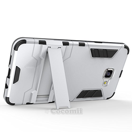 Cocomii Iron Man Armor Galaxy A9/A9 Pro Case, Slim Thin Matte Vertical & Horizontal Kickstand Reinforced Drop Protection…