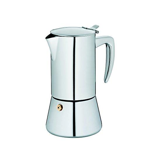 Kela 10835 Espressokanne, 4 Tassen, 200 ml, Induktionsgeeignet, Edelstahl, Latina