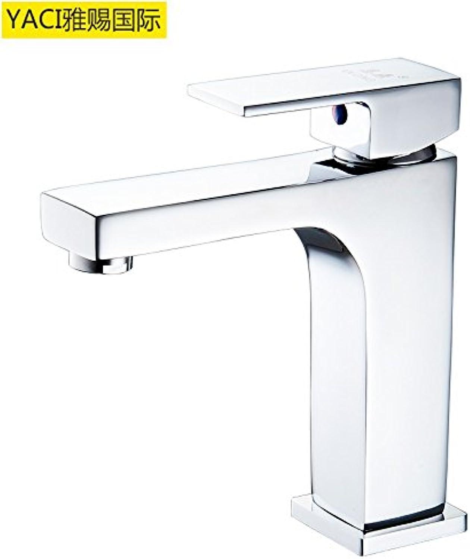 Bijjaladeva Wasserhahn Bad Wasserfall Mischbatterie Waschbecken WaschtischWarmes und Kaltes Wasser Armaturen Waschtisch Armatur Waschbecken Voll Kupfer Wasserhahn MP9009