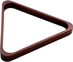 CueStix International Dreiecksst/änder f/ür 8 Kugeln mit Messingecken gebeiztes Holz