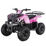 X-PRO 125cc ATV Quad Kids ATV Youth ATV 4 Wheeler 125 ATV Quads,Spider Pink