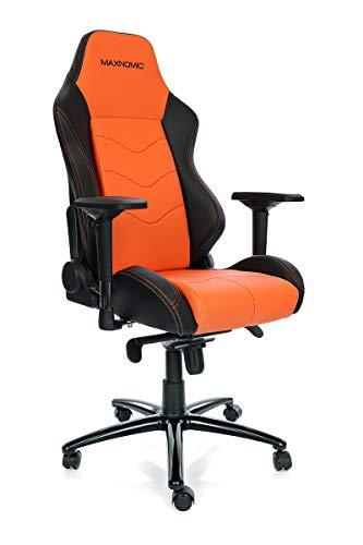 MAXNOMIC Dominator Premium Gaming Bürostuhl & Esports, Metall Farbe Orange