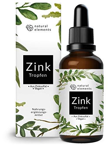 Zink Tropfen - 100ml (3400 Tropfen) - Premium: Ionisches Zink (Zink-Sulfat) - Ohne Alkohol, laborgeprüft, vegan
