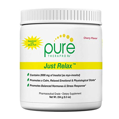 Just Relax - Cherry 60 Servings   Supports: Relaxed Mood, Healthy Blood Pressure, Emotional Wellness, Hormonal Balance*   Myo-inositol; Di-Magnesium Malate, GABA, Taurine, & L-Theanine (Suntheanine)