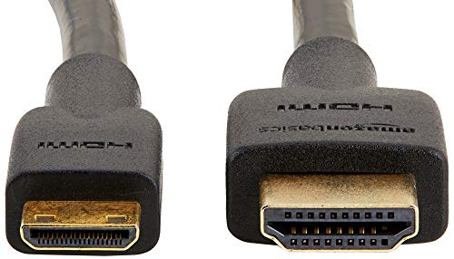 AmazonBasics High-Speed Mini-HDMI to HDMI TV Adapter Cable (Supports Ethernet, 3D, and Audio Return) - 10 Feet