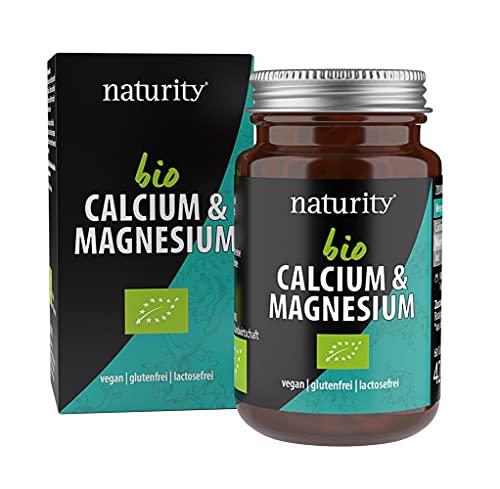 BIO CALCIUM & MAGNESIUM, für Knochen, Muskeln und Zähne, hochdosierte Tabletten mit Calcium, Magnesium und natürlichem Jod, unterstützt Haut-Gesundheit, vegan und natürlich (60 Tabletten)