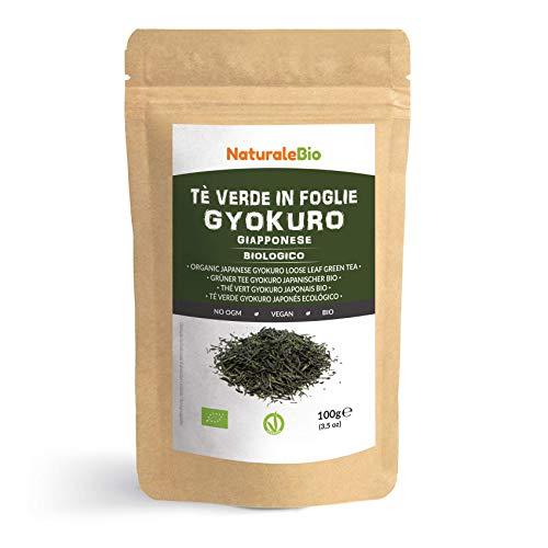 Thé vert Gyokuro Japonais Bio de 100g. 100 % Bio, Naturel et Pur, Thé vert en vrac de première récolte cultivée au Japon. Organic Japanese Gyokuro Green Tea. NaturaleBio