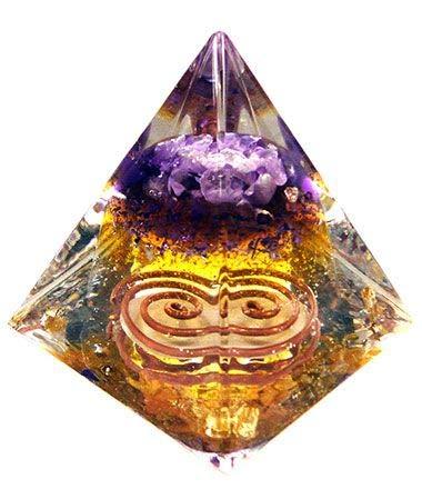 Orgonite Pirâmide de Ouro Saint Germain (6cm)