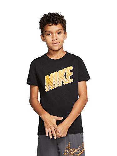 Nike Kinder U NSW Tee Block T-Shirt, Black, M