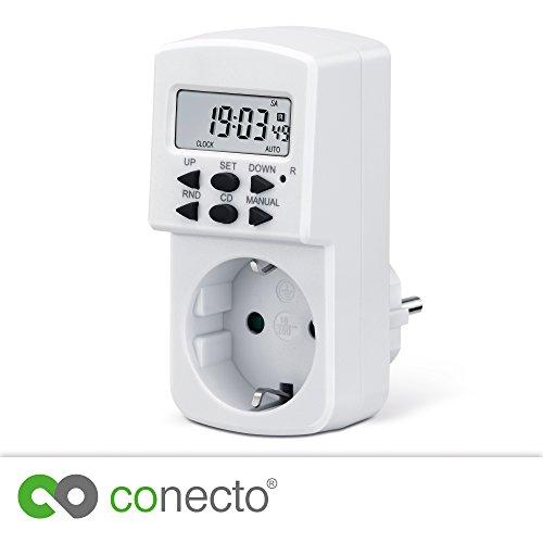 conecto Digitale Zeitschaltuhr für Steckdose | 1,5