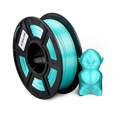 YANGDONG 1kg (2.2 £) Seide-PLA-Faden, 1,75 Mm +/- 0,02mm 3D-Druckerzufuhrmaterial, Regenbogen-Farbiger Filament-PLA, Metallischer Glanz, Reibungsloser Druck, Starke Flexibilität, (Color : Silk Green)