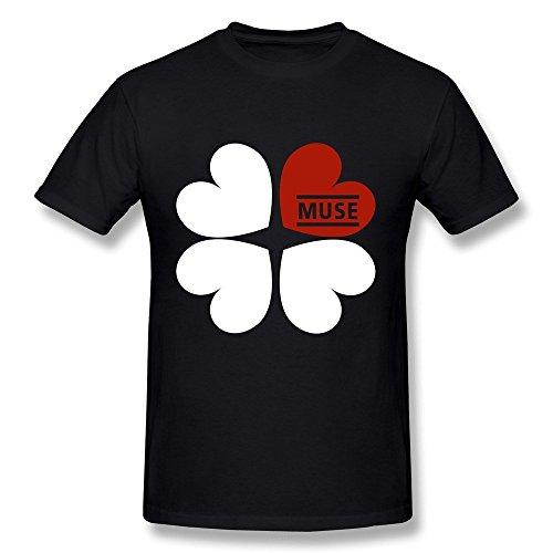 Dzzlee Herren Baumwolle Basic T Shirt Clover Schwarz Gr. X-Small, schwarz