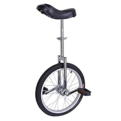 "AW Silver 18"" Inch Wheel Unicycle Leakproof Butyl Tire Wheel Cycling Outdoor Sports Fitness Exercise Health"