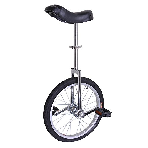 """AW Silver 18"""" Inch Wheel Unicycle Leakproof Butyl Tire Wheel Cycling Outdoor Sports Fitness Exercise Health"""