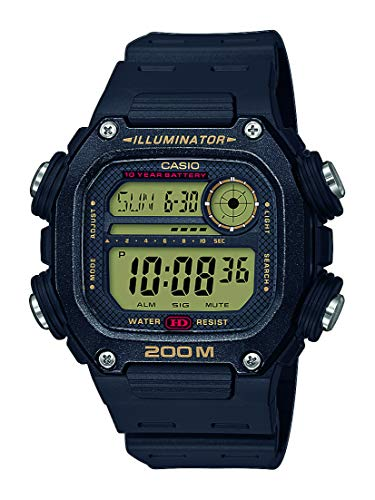 Casio Reloj Digital para Hombre de Cuarzo con Correa en plástico DW-291H-9AVEF