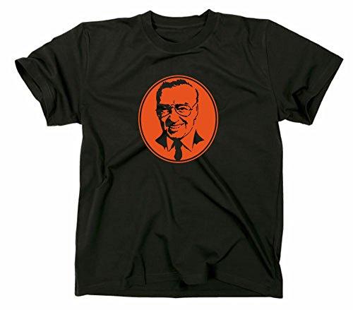 Heinz Schenk T-Shirt Hessen Rheinhessen Frankfurt hessisch, XL, schwarz
