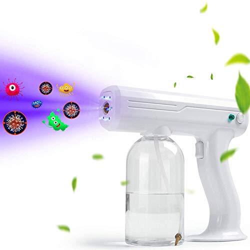 AMDIMOHB Nebulizer Desinfección Portátil Nano Disinfectante Pistola de pulverización Portátil Portátil Portátil, pistola de pulverización nano con batería, máquina de atomizador electrostática inalámb