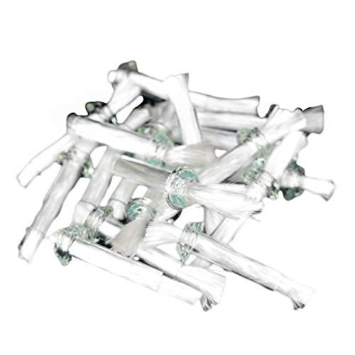 SUPVOX 40pcs Replacement Fiberglass Wicks Fiberglass Candle Wicks Glass Tube Wicks Holder Fiberglass Tiki Torch Wicks for Oil Lamps