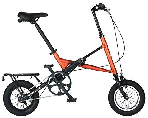 ハリー クイン(HARRY QUINN) MAGIC WAND 特殊ウェザリング ヴィンテージ塗装 Wオレンジ X型ワンタッチ折りたたみ自転車 12インチ 88215-1099