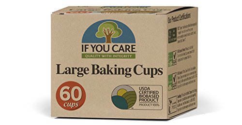 If You Care Unbleached Cupcake Liner Baking Cups - 24 Pack of 60-Count Boxes – Large Size - Made of Silicone Coated, Greaseproof Parchment Paper, Compostable Muffin Holders