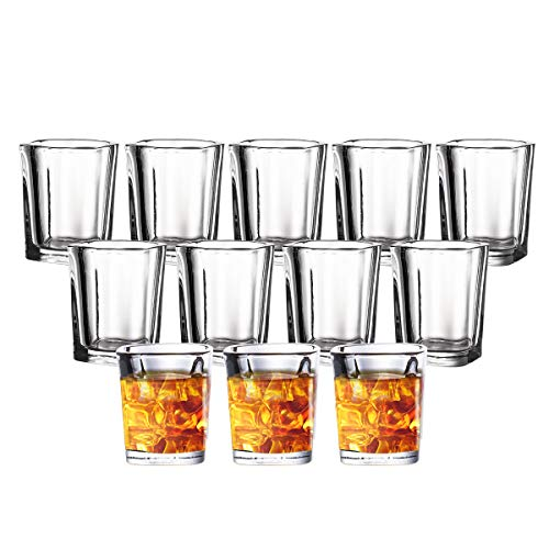 JOLLY CHEF Shot Glass Set with Heavy Base, 2 Ounce 20 Pack Tequila Shot Glasses, Clear Shot Glass for Whiskey and Liqueurs,Ideal for Halloween ,Thanksgiving,Christmas (20 Pack)