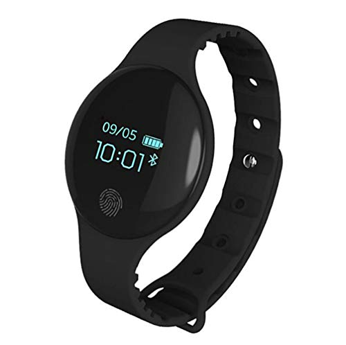 WYXIN Montre Bluetooth Intelligente pour iOS Android Hommes Femmes Sport Intelligent Podomètre Fitness Bracelet Montre pour iPhone Horloge,Black
