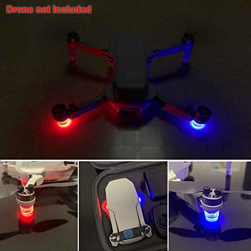 Happymore - Luz LED antipérdida, luz antivuelo nocturno, para DJI Mavic Mini (negro), No nulo, negro, Tamaño libre
