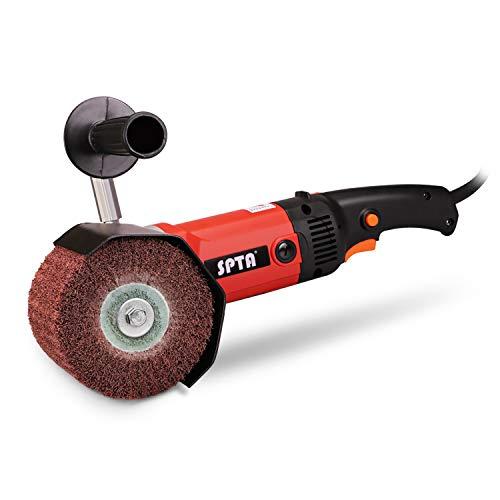 Poliermaschine, SPTA 1200W 230V Poliermaschine & Polierscheibe (Vlies-Räder) Set Trommelschleifer für Metall, Edelstahl Polieren