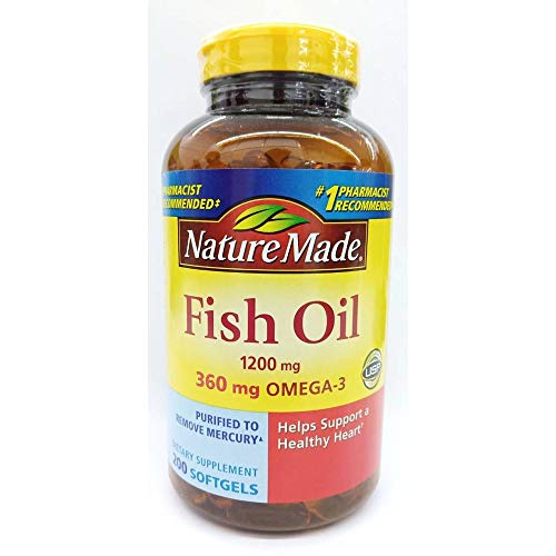 Nature Made Fish Oil 1200 Mg 360 Mg Omega3 200 Liquid Softgels