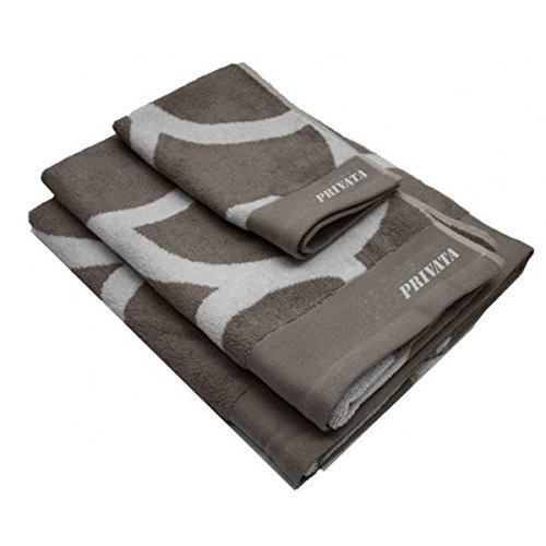 Privata Home - Set 3 toallas 450 grs. gris/blanca HOTXPV012