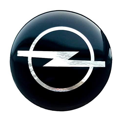 LogoEmbl Aufkleber 4 x 55 mm embleme kompatibel mit Opel radkappen nabenkappen nabendeckel Silikon