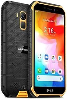 4G頑丈な携帯電話(2020)、Ulefone Armor X7 Android 10屋外スマートフォンIP68、4000mAhバッテリー、防水水中写真、MT6761クアッドコア2GB + 16GB、DUAL SIM/GPS/NFC、顔認証 (...