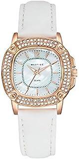 MESTIGE Womens Quartz Watch, Analog Display and Leather Strap MSWA3155