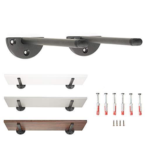 Soportes para estantes, soportes de pared de acero resistente, con tornillos y tacos de fijación (2, 25 cm)