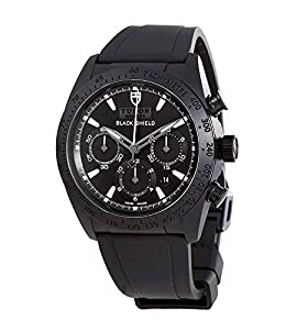 Tudor Blackshield Automatic Chronograph Black Dial Black Rubber Mens Watch 42000CN-BKRS image