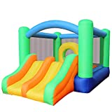 RETRO JUMP Inflatable Bounce House Slides Moonwalk Castle Kids Bouncy Playhouse for Birthday Party Gift with Blower