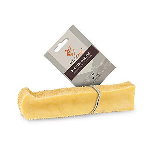 Wildfang® Palo para masticar de queso duro para su perro I Juguete de perro - hueso de queso para masticar - cuidado dental & entrenamiento muscular de la mandíbula I Hueso duradero & natural