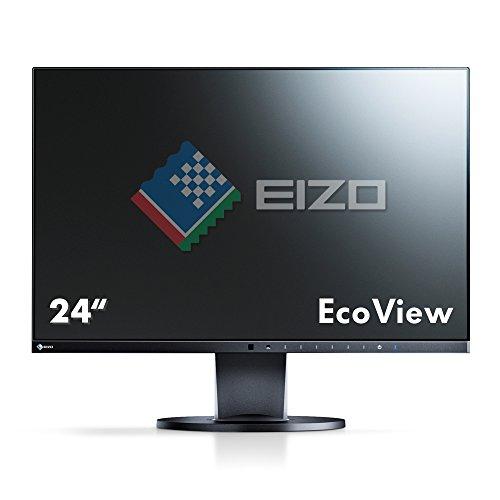 EIZO FlexScan EV2451-BK 60,4 cm Ultra-Slim Monitor (USB 3.1 Hub, DisplayPort, 5 ms Reaktionszeit) & FlexScan EV2450-BK 60,4 cm Ultra-Slim Monitor (USB 3.1 Hub, DisplayPort, 5 ms Reaktionszeit) schwarz