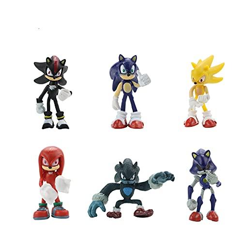 Figura muñeca sónica Un conjunto de 6 juegos anime mano oficina aberdeen decoración modelo muñecas muñecas Schattdecor Sonic juegos anime juegos decoración de pasteles