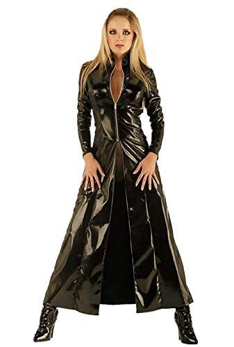 KIRALOVE Trinity Matrix Jacke kostüm - Cosplay - damenverkleidung - Halloween - Karneval - größe m - originelle Geschenkidee Trinity Matrix Cosplay